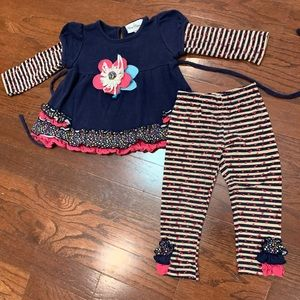 Rare editions size 2t matching outfit